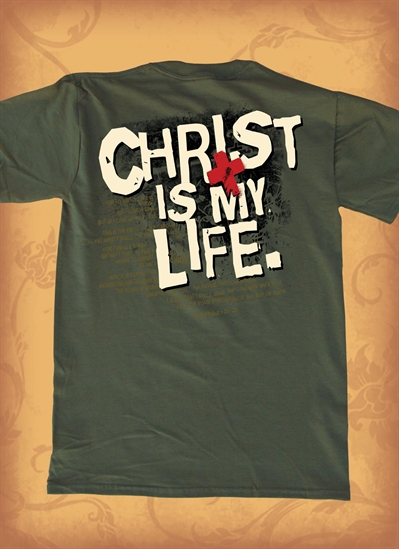 Red Letter 9 Christ Is Life T-Shirt. Medium. Save 75%.