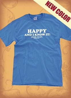 Red Letter 9 Happy & I Know It T-Shirt. Medium. Save 75%.