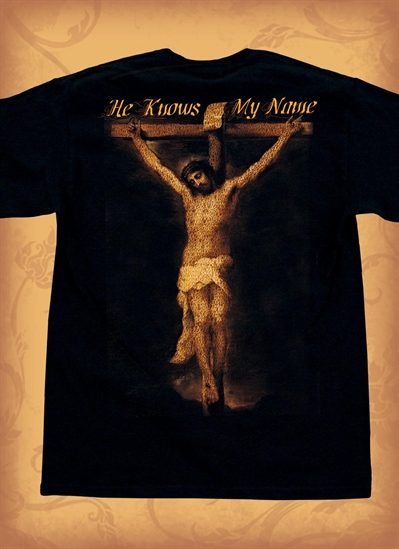 Red Letter 9 He Knows Me T-Shirt. Medium. Save 75%.